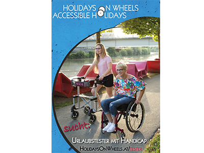 Postkarte - Holidays on Wheels