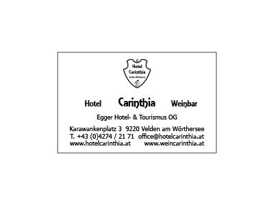 Visitenkarten -  Hotel Carinthia
