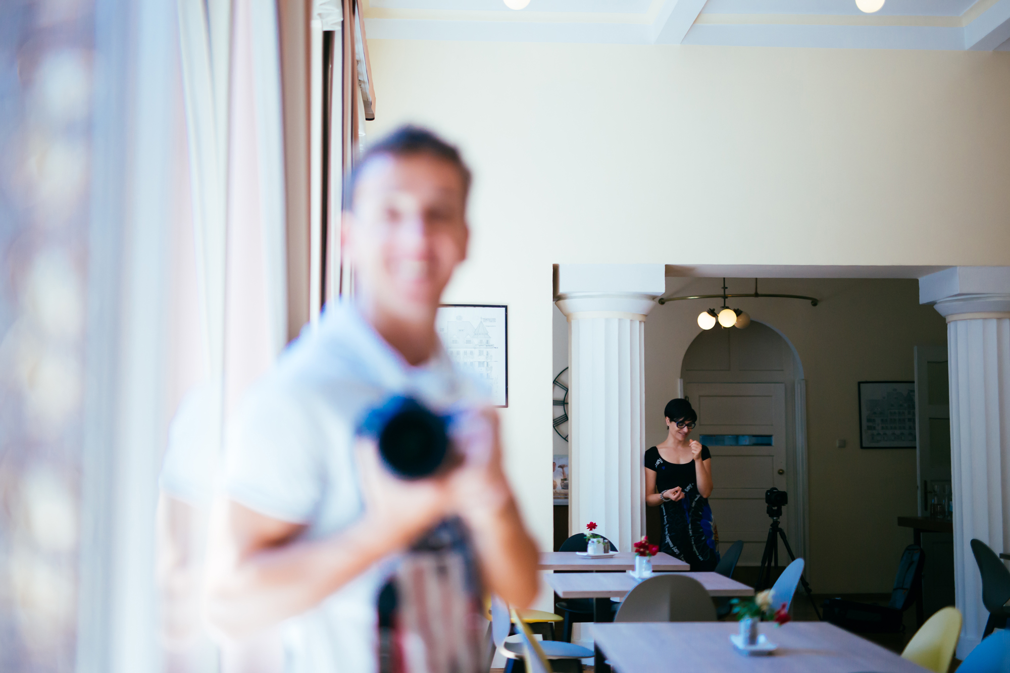 Hinter den Kulissen beim Fotoshooting im Hotel Carinthia