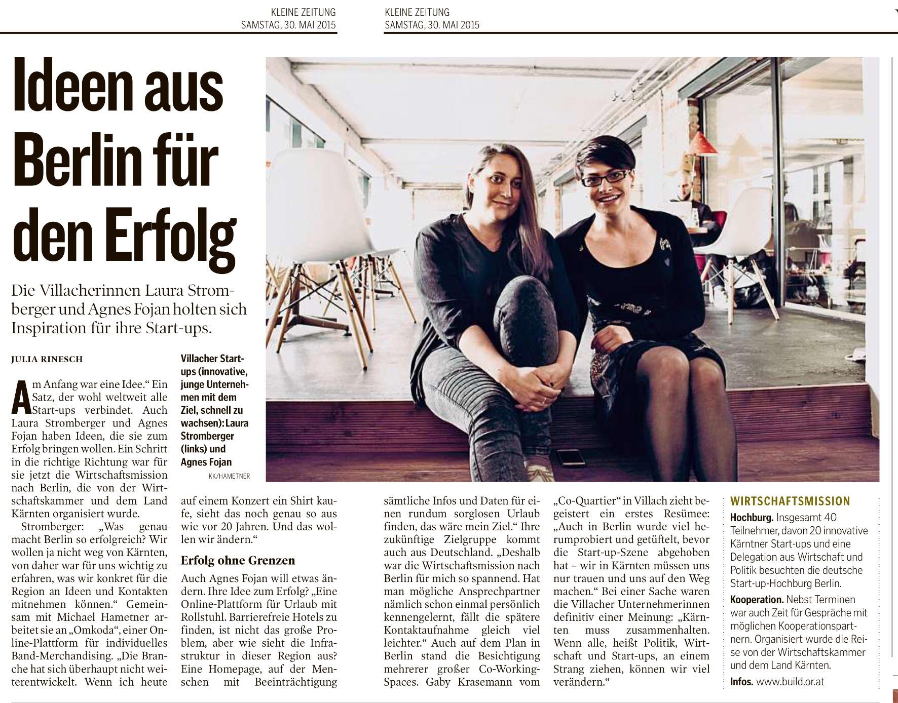 Beitrag Kleine Zeitung 30.5.2015